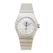 Omega Constellation Stainless Steel With Diamonds White...