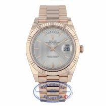 Rolex Day-Date 40mm President Everose Sundust Stripe Dial