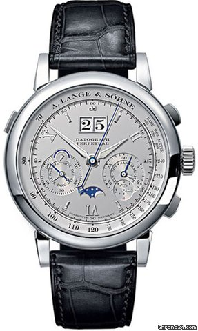 A. Lange &amp;amp; Shne Platinum Datograph Perpetual Calendar Watch 410.025