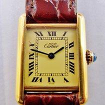Cartier tank lady vermeil argento 925 placcato oro