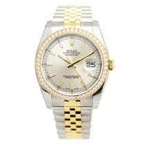 劳力士  (Rolex) Datejust Gold Steel Diamond Silver Automatic...