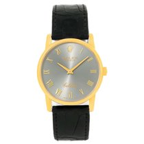 Rolex Cellini Classic 18k Yellow Gold Slate Dial Watch 5116