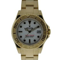 Rolex 35mm Yacht-master 18kt Yellow Gold White Dial 18kt...