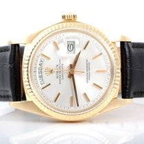 Rolex Mens 18K Yellow Gold Day-Date President - Silver Dial -...