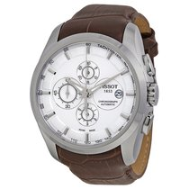 Tissot Couturier Silver Dial Chronograph Mens Watch T035627160...
