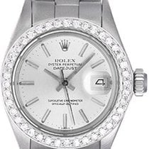Rolex Ladies Rolex Datejust Watch with Diamond Bezel 69174