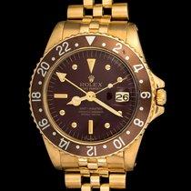 Rolex Vintage 18kt gold 1675 Gmt-master, D'agosto bracelet