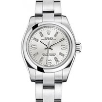 Rolex Oyster Perpetual 26 176200-SLVSO Silver Arabic / Index...