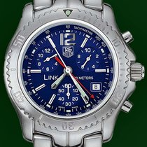 TAG Heuer Link 42mm Chronograph 200M Stainless Steel Blue Dial