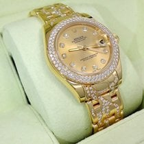"""Rolex Masterpiece Pearlmaster 81338 Rare 34mm """"flame""""..."""