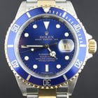 Rolex Submariner Gold/Steel, blue dial Full set from 2009. Rare.