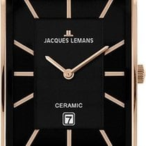 Jacques Lemans York 1-1593D Armbanduhr Mit Keramikelementen