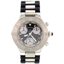Cartier Men's Cartier Chronoscaph 21 Stainless Steel Watch...
