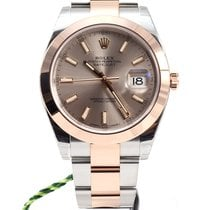 Rolex Oyster Perpetual Datejust 41mm Sundust dial pink gold NEW
