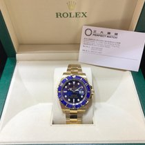Rolex 116618LB Submariner 40mm Blue Dial Yellow Gold
