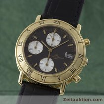 Baume & Mercier 18k Gold Baumatic Chronograph Herrenuhr 86104