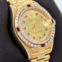 Rolex President 69068 Datejust 18k Yelow Gold Fact Diamond...