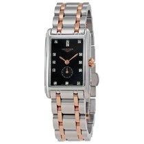 Longines DolceVita Black Dial Diamond Ladies Watch L52555577