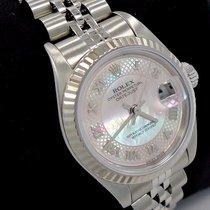 Rolex Datejust 79174 Factory Rare Mop Dial 18k Wg Bezel Ladies...