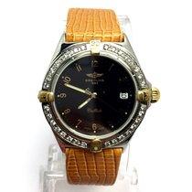 Breitling Callisto Ss & 18k Gold Unisex Watch Diamonds...