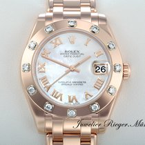 Rolex DATEJUST PEARLMASTER 34 ROSEGOLD 750 AUTOMATIK Date Just