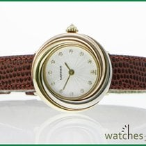 Cartier Trinity white-yellow-pink Gold Brillant Dial