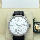 Rolex 50529 Cellini Dual Time Silver Guilloche 39mm [NEW]