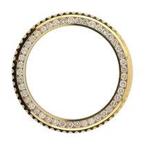 Rolex GMT-Master II Yellow Gold Round Brilliant Diamond Custom...