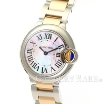カルティエ (Cartier) Ballon Bleu Pink Mother of Pearl Dial Steel...