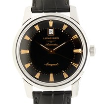 Longines Heritage Stainless Steel Black Automatic L1.645.4.52.4