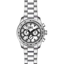 Invicta Speedway Chronograph Silver Dial Stainless Steel Mens...