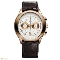 Piaget Gouverneur Automatic Silver Dial Brown Leather Men'...