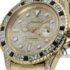 Rolex Gmt-master Ii 40mm 18k Yellow Gold Diamond-paved Dial...