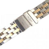 Breitling Zubehör - Armband Pilot Stahl/Gelbgold 15+16+18mm