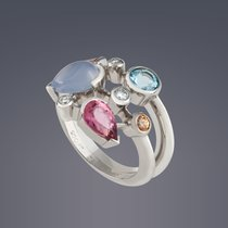 Cartier Meli Melo Platinum diamond ring