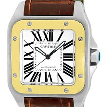 "Cartier ""Santos 100"" Strapwatch."