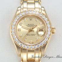 Rolex PEARLMASTER DATEJUST GELBGOLD 750 DIAMANTEN Date Just