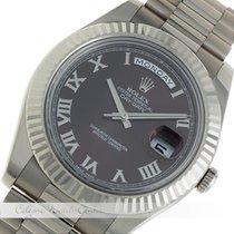 Ρολεξ (Rolex) Day Date II Weißgold 218239