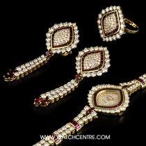 DeLaneau 18k Y/G Diamond & Ruby Ladies Watch &...