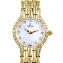 Concord Womens 18K Yellow Gold Diamond Quartz Watch