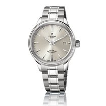 Tudor Style 38mm Silver Dial Stainless Steel