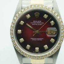 Rolex Datejust 36mm Two Tone Red Diamond Dial & Bezel