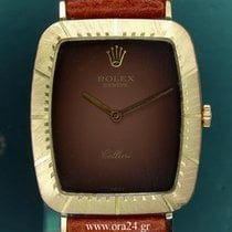 Rolex Cellini 4087 Manual Winding 18k Yellow Gold Chocolate Dial