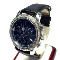 Tiffany & Co. Ss Men's Watch W/ Gorgeous Blue Dial...