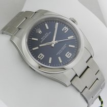 Rolex Oyster Perpetual 36mm SS Blue Dial Silver Stick Index...