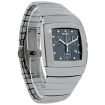 Rado Sintra Mens Platinum Ceramic Swiss Chronograph Watch...