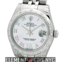 Rolex Datejust Stainless Steel 31mm Diamond Bezel MOP Diamond...
