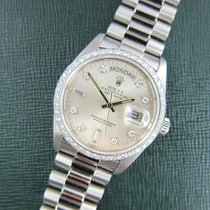 Rolex Platinum Day-Date Diamond Watch Ref. 18046