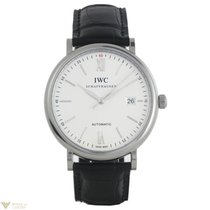 IWC Portofino Automatic Silver Dial Crocodile Strap Men`s Watch