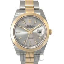 Rolex Datejust 41 Silver 18k yellow gold/Steel 41mm Oyster -...